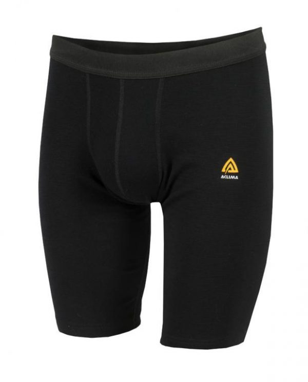 aclima warmwool long shorts herre jet black dahlmans